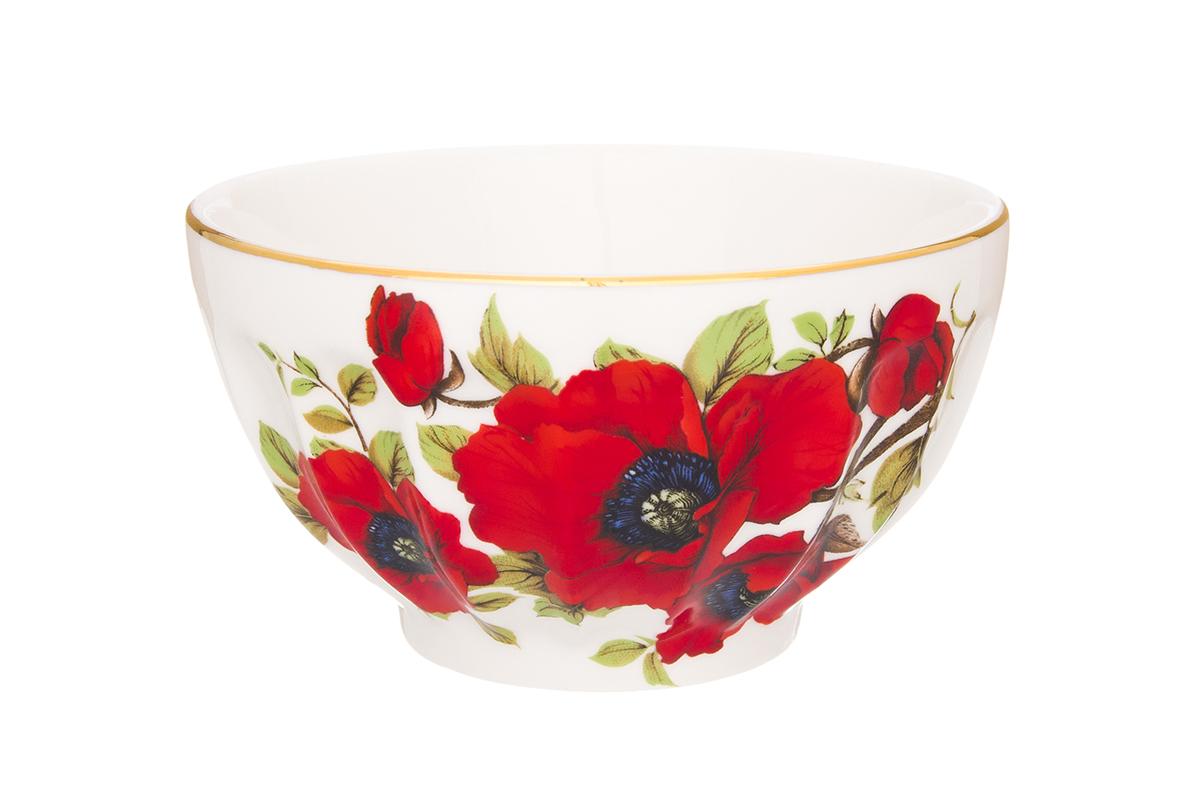 Салатник Elan Gallery Маки, 500 мл740313Великолепный салатник Elan Gallery Маки, изготовленный из высококачественного фарфора, прекрасно подойдет для подачи различных блюд: закусок, салатов или фруктов. Такой салатник украсит ваш праздничный или обеденный стол, а оригинальное исполнение понравится любой хозяйке. Не рекомендуется применять абразивные моющие средства. Не использовать в микроволновой печи. Диаметр салатника (по верхнему краю): 13 см. Высота салатника: 7 см.