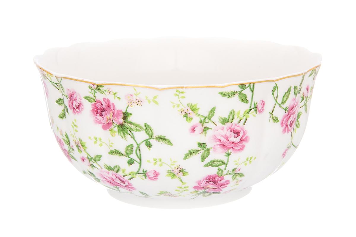 Салатник Elan Gallery Плетистая роза, 850 мл740330Великолепный салатник Elan Gallery Плетистая роза, изготовленный из высококачественного фарфора, прекрасно подойдет для подачи различных блюд: закусок, салатов или фруктов. Такой салатник украсит ваш праздничный или обеденный стол, а оригинальное исполнение понравится любой хозяйке. Не рекомендуется применять абразивные моющие средства. Не использовать в микроволновой печи. Диаметр салатника (по верхнему краю): 16 см. Высота салатника: 8,5 см.