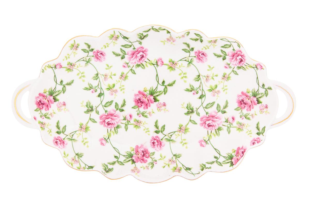 Блюдо для нарезки Elan Gallery Плетистая роза, 26 х 14,5 х 2,5 см740343Сервировочное блюдо для нарезки и закусок Плетистая роза станет настоящим урашением Вашего праздничного стола. Имеет ручки для удобства. Это блюдо прекрасно подойдет и для бутербродов, и для нарезки. Изделие имеет подарочную упаковку, поэтому станет желанным подарком для Ваших близких!