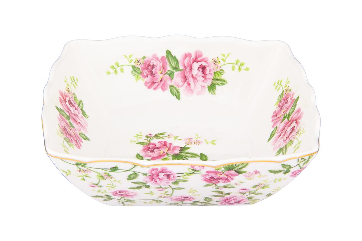 Салатник Elan Gallery Плетистая роза, 600 мл740368Великолепный салатник Elan Gallery Плетистая роза, изготовленный из высококачественного фарфора, прекрасно подойдет для подачи различных блюд: закусок, салатов или фруктов. Такой салатник украсит ваш праздничный или обеденный стол, а оригинальное исполнение понравится любой хозяйке. Не рекомендуется применять абразивные моющие средства. Не использовать в микроволновой печи. Размер салатника (по верхнему краю): 15,5 см. Высота салатника: 5,5 см.