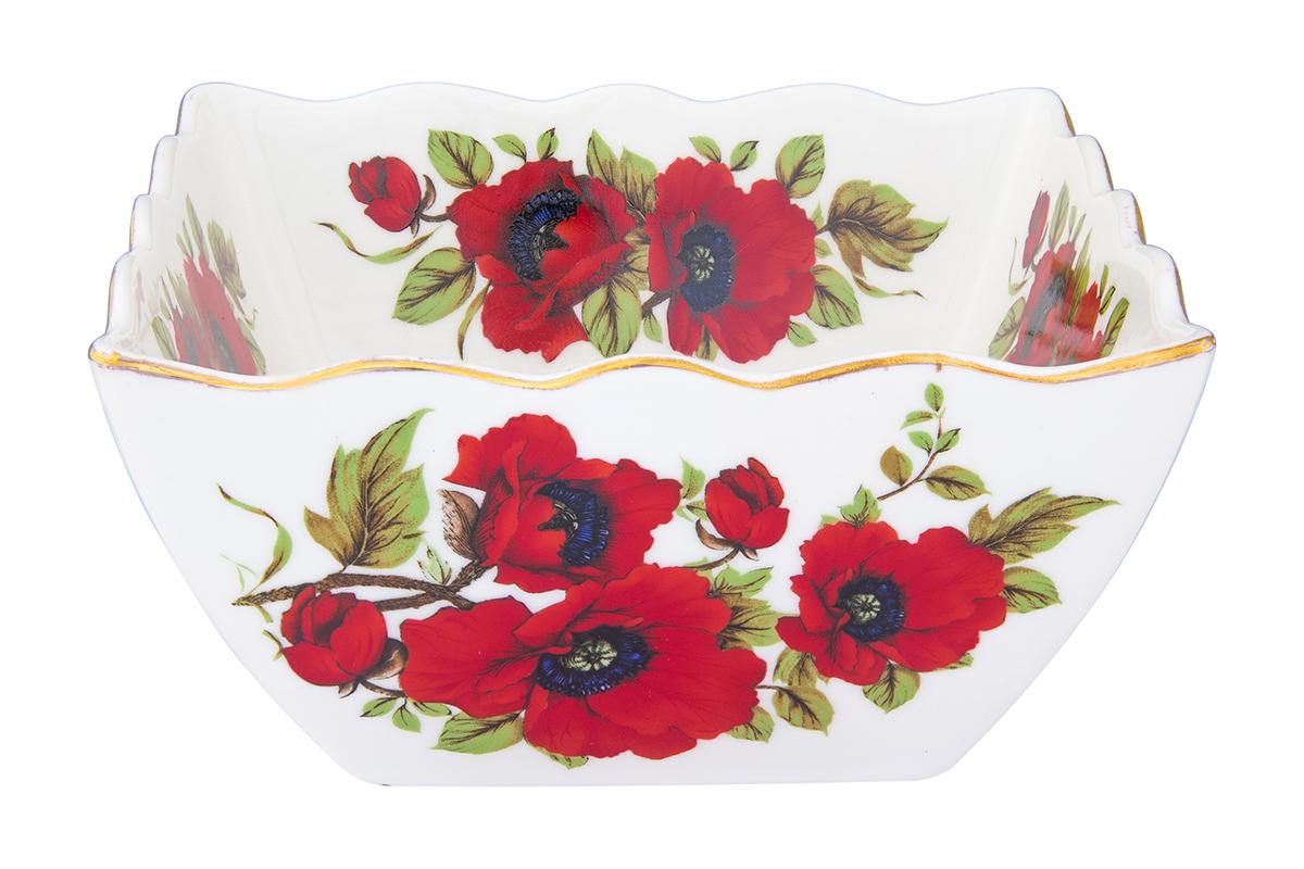 Салатник Elan Gallery Маки, 1 л740373Великолепный салатник Маки с волнистым краем идеален для сервировки салатов и и станет украшением для Ваших блюд. Изделие имеет подарочную упаковку, идеальный выбор для подарка.