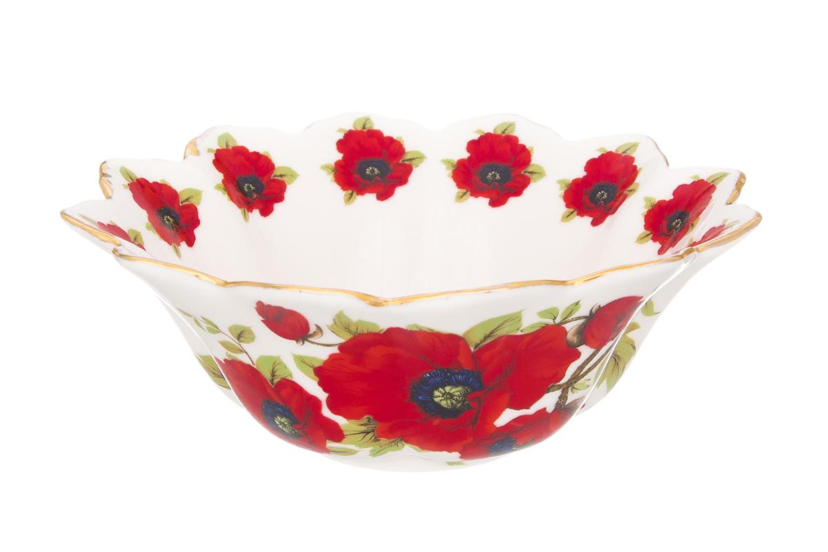Салатник Elan Gallery Маки, 350 мл740383Великолепный салатник Маки с волнистым краем идеален для сервировки салатов и и станет украшением для Ваших блюд. Изделие имеет подарочную упаковку, идеальный выбор для подарка.