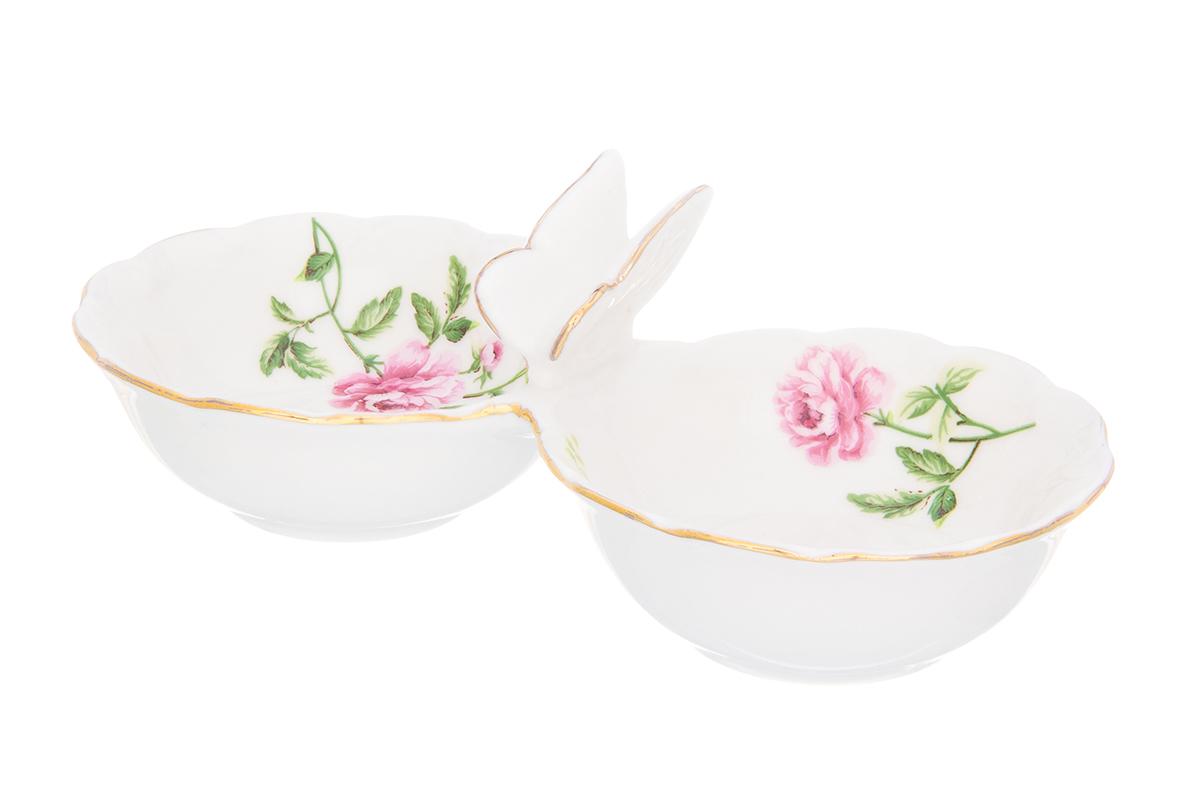 Набор для специй Elan Gallery Плетистая роза, 2 секции, 50 мл740432Емкость для специй Плетистая роза использовуется как солонка и как соусница. Миниатюрная, изящная украсит Вашу сервировку в повседневной жизни. Соберите всю коллекцию предметов сервировки Плетистая роза и Ваши гости будут в восторге! Изделие имеет подарочную упаковку, поэтому станет желанным подарком для Ваших близких!