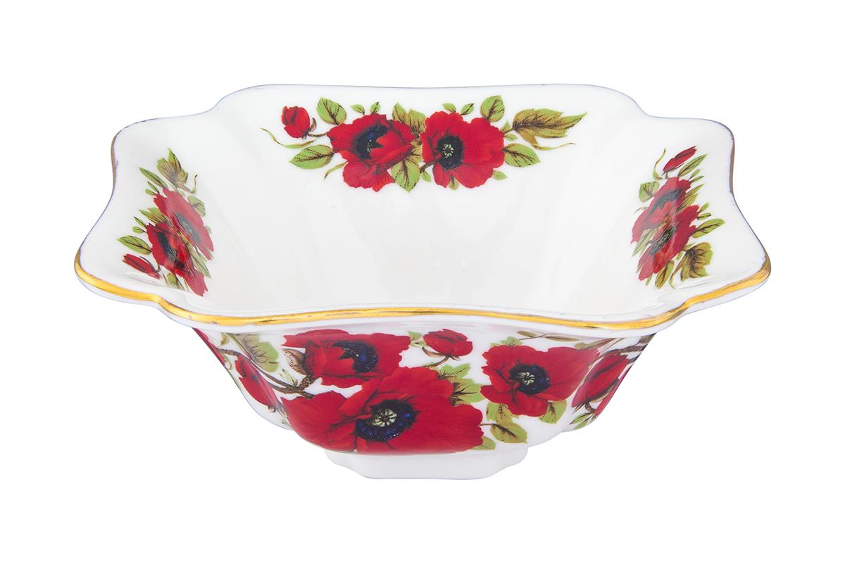 Салатник Elan Gallery Маки, 250 мл740485Великолепный салатник Маки с волнистым краем идеален для сервировки салатов и и станет украшением для Ваших блюд. Изделие имеет подарочную упаковку, идеальный выбор для подарка.