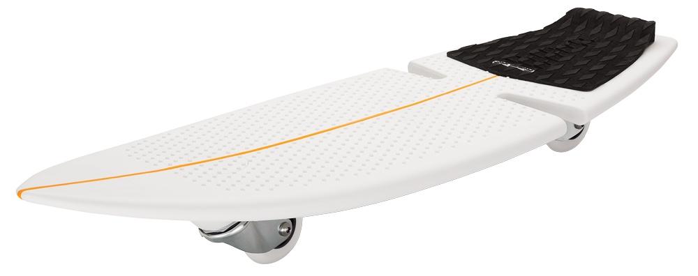 Роллерсерф Razor RipSurf, цвет: черный051005#SurfWhereYouLive - именно такой хэштег ставят посвященные серферы там, где они живут и катаются по волнам. Запатентованный дизайн рипсерфа позволяет райдерам кататься по жесткому покрытию скейт-парка или дорожке в городском парке, словно по волнам, прям как настоящий серфер! Стиль рипстика RipSurf остался неизменен - те же два колеса, которые расположены под острым углом к земле; да и жесткая платформа для ног - дека, выполненная из высококачественного полипропилена: он очень крепкий и хорошо гнется. В качестве усиления сделаны специальные ребра жесткости. Серфи там, где ты живешь! От 7 лет Подходит под рост от 100 до 200 см. Вес рипсерфа 2,38 кг. Максимальная нагрузка 100 кг. Запатентованные технологии RipStik (технология кручения полипропиленовой основы) Легкий цельный армированный полимер промышленного класса Текстурированная поверхность под заднюю ногу, для лучшей устойчивости Наклонные уретановые колеса, вращающиеся на 360 градусов Общая длина деки 82 см., ширина деки 28 см....