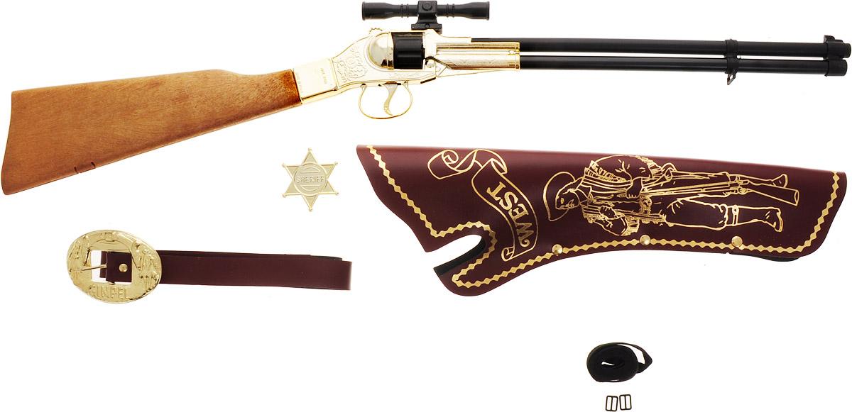 Villa Набор игрушечного оружия Шериф 4 предмета villa винтовка шериф цвет золотистый