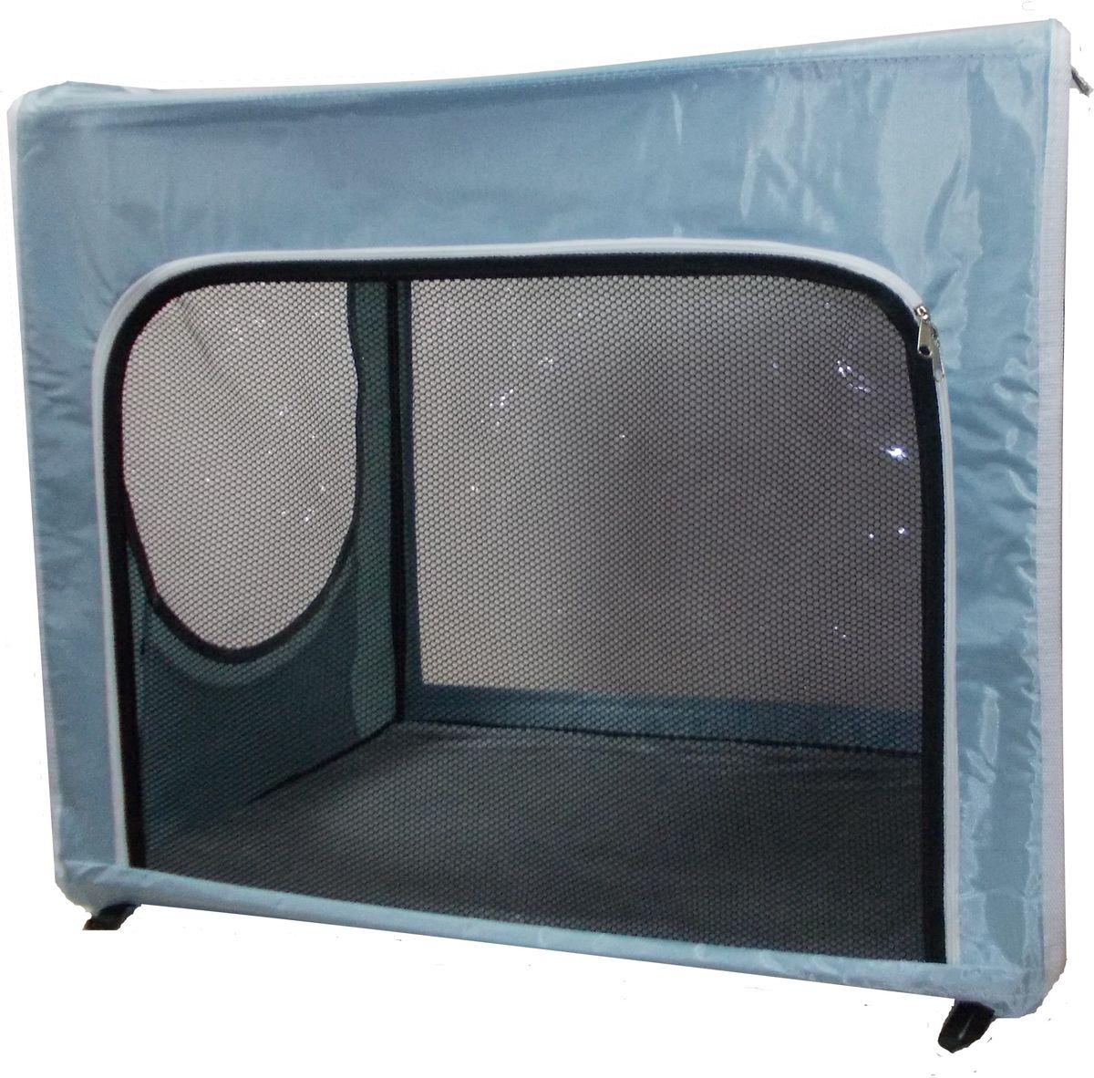 """Клетка для животных """"Заря-Плюс"""", выставочная, цвет: голубой, 75 ? 60 ? 50 см. КТВ2/1 КТВ2/1нг"""