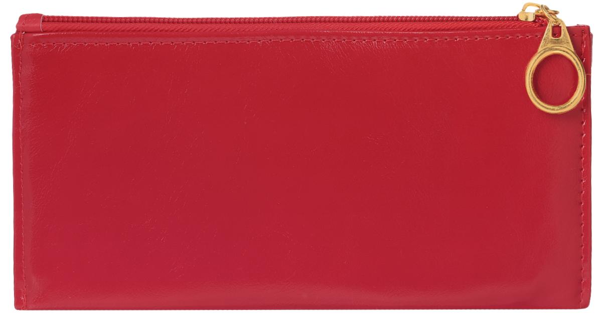 Кошелек женский Leighton, цвет: красный. 741741 redСтильный женский кошелек Leighton выполнен из искусственной кожи и закрывается на застежку-молнию. Подкладка кошелька изготовлена из полиэстера. Изделие содержит три отделения для купюр, восемь карманов для пластиковых карт, снаружи карман на молнии.