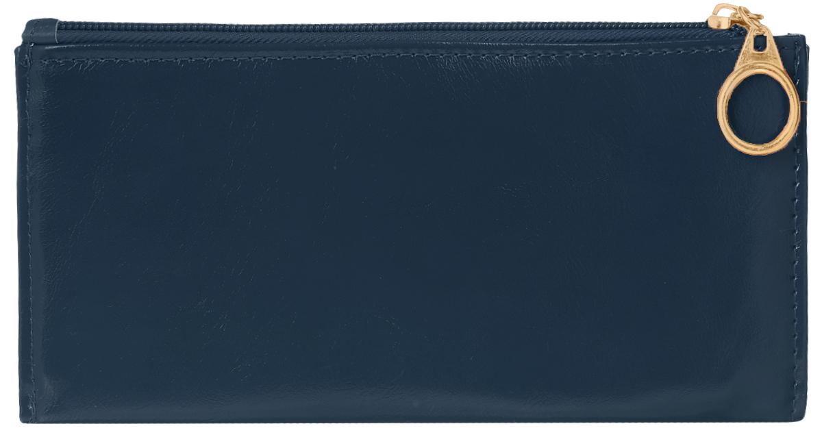Кошелек женский Leighton, цвет: темно-синий. 741741 blueСтильный женский кошелек Leighton выполнен из искусственной кожи и закрывается на застежку-молнию. Подкладка кошелька изготовлена из полиэстера. Изделие содержит три отделения для купюр, восемь карманов для пластиковых карт, снаружи карман на молнии.