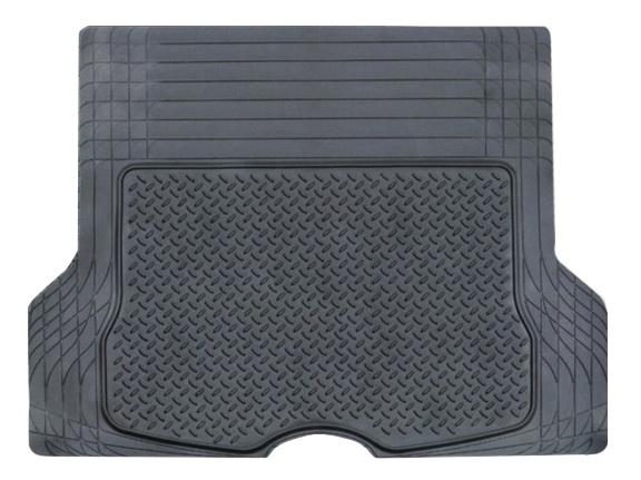 Коврик в багажник Airline, универсальный, цвет: черный, 133 х 111 смACM-RTM-06Ковер предназначен для багажного отделения автомобиля и имеет универсальный размер, подходящий для установки в машине любой марки. Состав из полимера защищает салон автомобиля от загрязнений, а также препятствует впитыванию влаги и любых жидкостей. Изделие не подвержено влиянию температур и обладает морозостойкими свойствами. Преимущества: -Защищают от воды, жидкой грязи, масел и нефтепродуктов -Легко чистятся -Универсальный размер -Морозостойкость до -40C