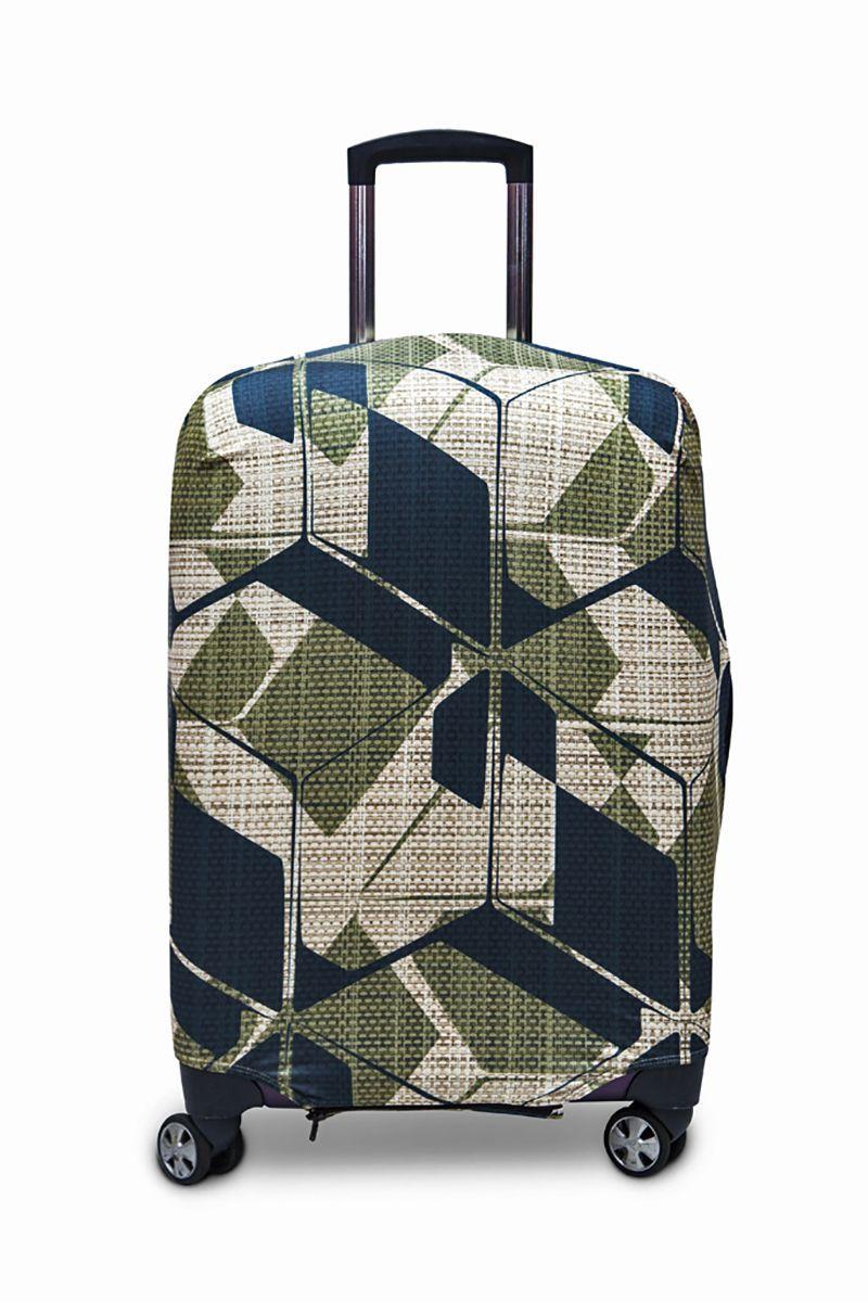 Чехол для чемодана Fancy Armor Travel Suit Eco. Милитари, размер M/L (50-65 см)FTS_ECO_039Чехол размера ML предназначен для чемоданов высотой 52-65 см. Универсальный эластичный чехол для большого чемодана защищает чемодан и вещи от грязи и повреждений, заменяет пленку в аэропорту и позволяет сэкономить время и деньги на упаковке багажа, а также поможет безошибочно отличить свой чемодан. Запатентованная выкройка обеспечивает идеальную посадку, а высокое качество пошива и используемых материалов (ткань плотностью 240г/м2) гарантирует долгую службу чехла. Обработанные силиконовой резинкой вырезы специальной формы обеспечивают удобный доступ ко всем ручкам чемодана..