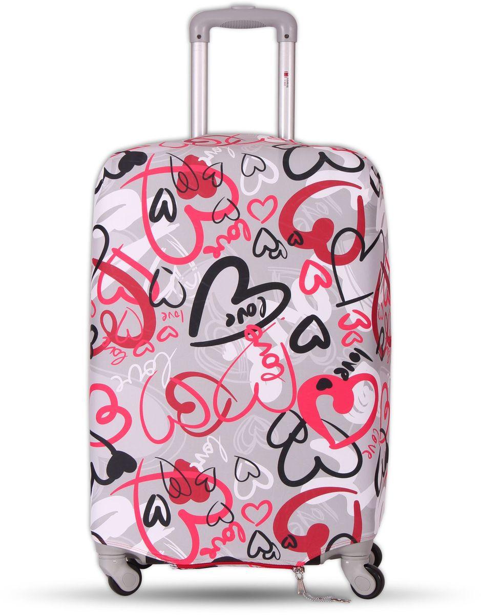 Чехол для чемодана Fancy Armor Travel Suit Eco. Аморе, размер XL (65-75 см)FTS_ECO_807Чехол Fancy Armor Travel Suit Eco. Аморе предназначен для чемоданов высотой 65-75 см, выполнен из спандекса - легкого, эластичного и стойкого к разрыву материала, плотностью 240 г/см3. Универсальный чехол для большого чемодана защищает чемодан и вещи от грязи и повреждений, заменяет пленку в аэропорту и позволяет сэкономить время и деньги на упаковке багажа, а также поможет безошибочно отличить свой чемодан. Запатентованная выкройка обеспечивает идеальную посадку, а высокое качество пошива и используемых материалов гарантирует долгую службу чехла. Обработанные силиконовой резинкой вырезы специальной формы обеспечивают удобный доступ ко всем ручкам чемодана.
