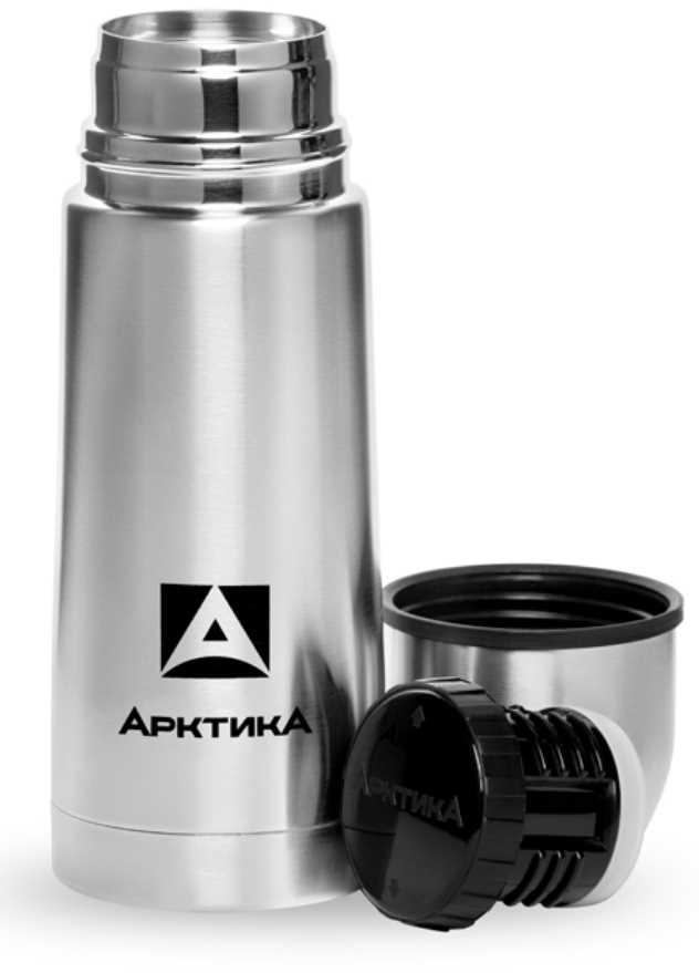 """Термос """"Арктика"""", с узким горлом, классический, цвет: стальной, 350 мл"""