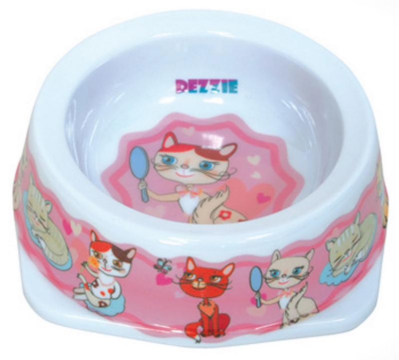 Миска для кошек Dezzie Забава, 150 мл5619003Миска для кошек Dezzie Забава, выполненная из пластика и оформленная красочным изображением, отличается легкостью и удобством применения. Она легко моется и быстро высыхает. Миска имеет резиновые антискользящие вставки. Размер миски: 12,5 x 12,5 x 4,5 см. Объем миски: 150 мл.