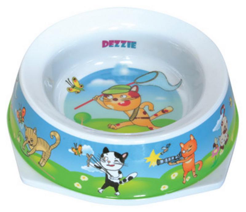 Миска для кошек Dezzie Актив, 300 мл5619007Миска DEZZIE для кошек из пластика отличается лёгкостью и удобством применения. Она легко моется и быстро высыхает. Миска имеет резиновые антискользящие вставки.