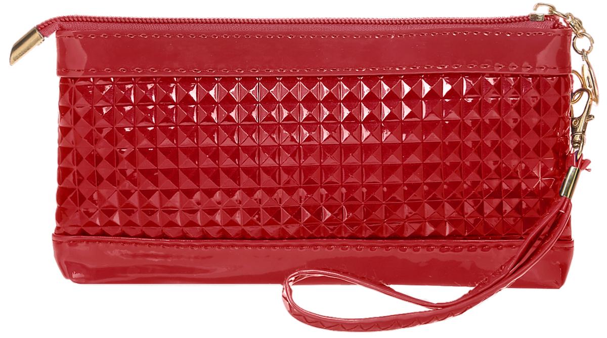 Кошелек женский Leighton, цвет: красный. 741-1741-1 redСтильный женский кошелек Leighton выполнен из искусственной кожи и закрывается на застежку-молнию. Подкладка кошелька изготовлена из полиэстера. Изделие содержит одно отделение, снаружи карман на молнии. В комплекте маленький ремешок.