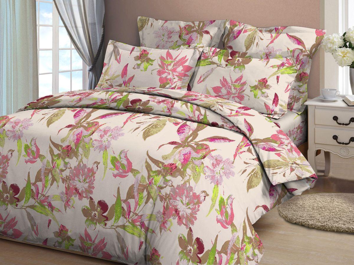 Комплект белья Amore Mio Akvarel, 2-спальный, наволочки 70x70, цвет: молочный, бежевый, розовый81965Постельное белье из бязи практично и долговечно, а самое главное - это 100% хлопок! Материал великолепно отводит влагу, отлично пропускает воздух, не капризен в уходе, легко стирается и гладится. Новая коллекция Naturel 3-D дизайнов позволит выбрать постельное белье на любой вкус!
