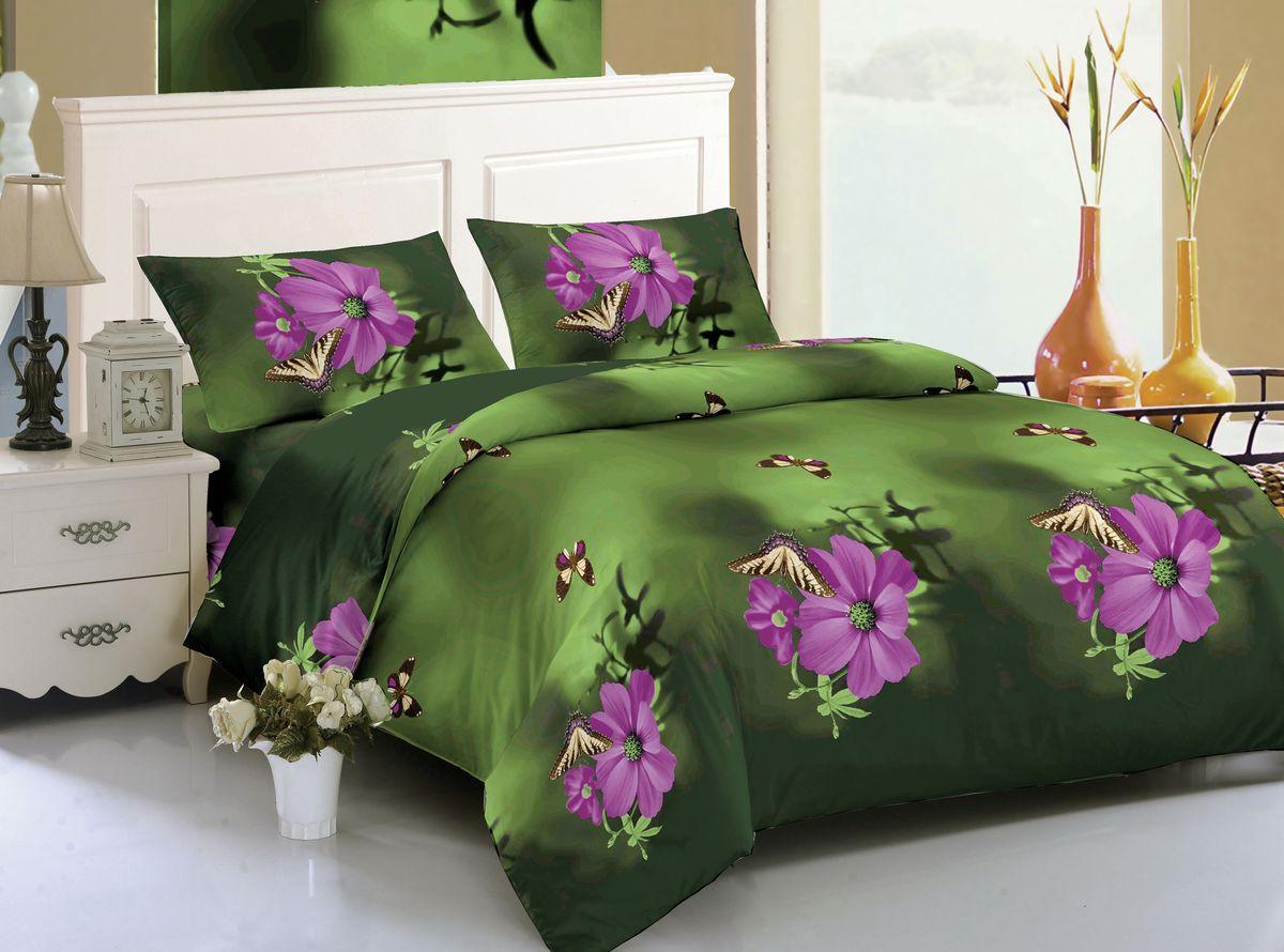 Комплект белья Amore Mio Hailey, 1,5-спальный, наволочки 70x70, цвет: зеленый, сиреневый82610Amore Mio – Комфорт и Уют - Каждый день! Amore Mio предлагает оценить соотношению цены и качества коллекции. Разнообразие ярких и современных дизайнов прослужат не один год и всегда будут радовать Вас и Ваших близких сочностью красок и красивым рисунком. Мако-сатина - Свежее решение, для уюта на даче или дома, созданное с любовью для вашего комфорта и отличного настроения! Нано-инновации позволили открыть новую ткань, полученную, в результате высокотехнологического процесса, сочетает в себе широкий спектр отличных потребительских характеристик и невысокой стоимости. Легкая, плотная, мягкая ткань, приятна и практична с эффектом «персиковой кожуры». Отлично стирается, гладится, быстро сохнет. Дисперсное крашение, великолепно передает качество рисунков, и необычайно устойчива к истиранию. Пр