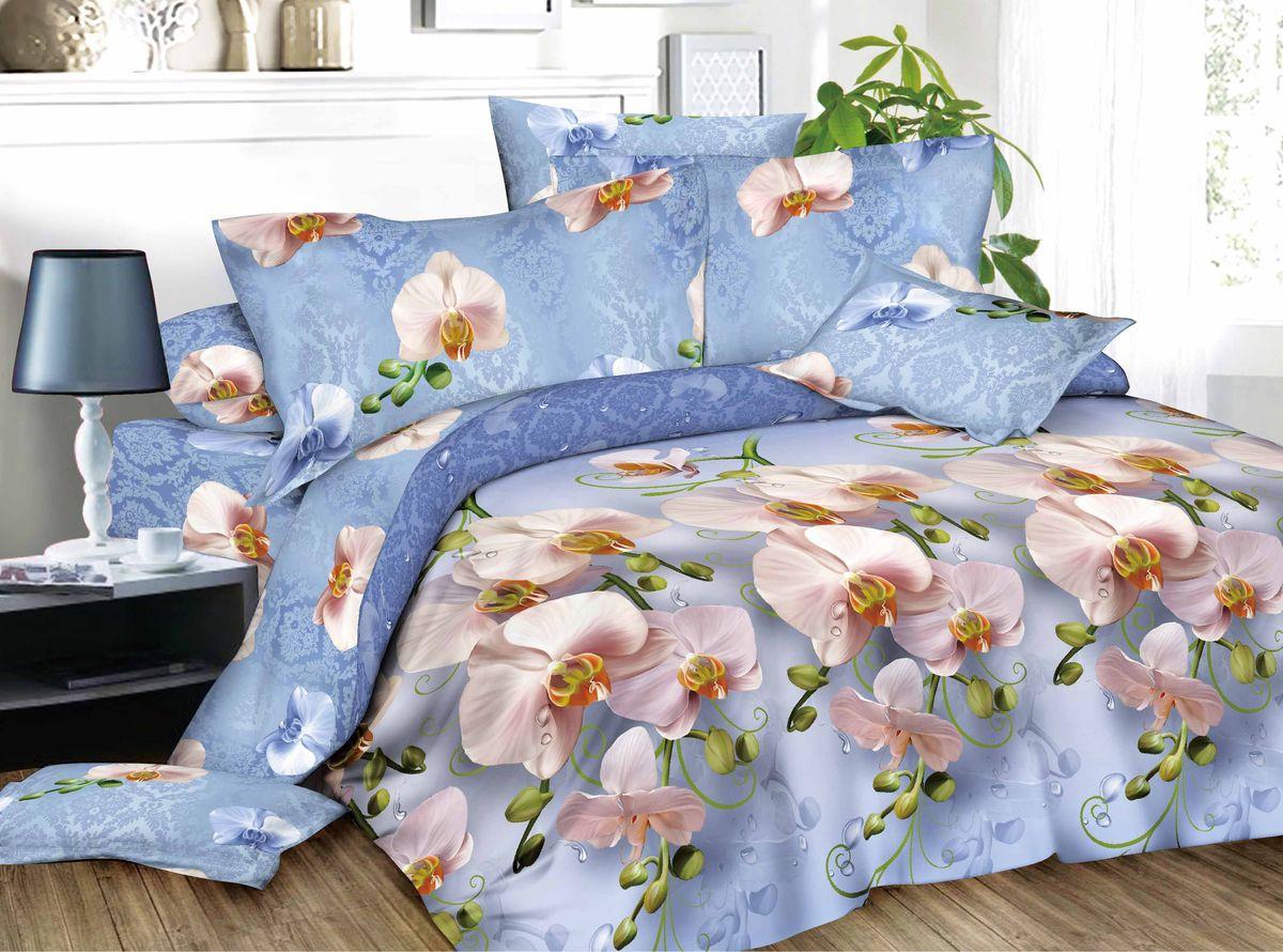 Комплект белья Amore Mio Alina, 1,5-спальный, наволочки 70x70, цвет: синий, розовый82880Amore Mio – Комфорт и Уют - Каждый день! Amore Mio предлагает оценить соотношению цены и качества коллекции. Разнообразие ярких и современных дизайнов прослужат не один год и всегда будут радовать Вас и Ваших близких сочностью красок и красивым рисунком. Что такое Satin/Сатин.-это ткань сатинового (атласного) переплетения нитей. Имеет гладкую, шелковистую лицевую поверхность, на которой преобладают уточные нити (уток – горизонтально расположенные в тканом полотне нити). Сатин изготавливается из крученой хлопковой нити двойного плетения. Он чрезвычайно приятен на ощупь, не электризуется и не скользит по кровати. Сатин прекрасно сохраняет форму и не мнется, отлично пропускает воздух, что позволяет телу дышать и дарит здоровый и комфортный сон.