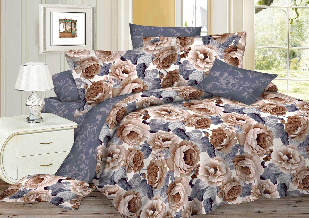 Комплект белья Amore Mio Pion, 2-спальный, наволочки 70x70, цвет: серый, бежевый82909Комплект постельного белья Amore Mio является экологически безопасным для всей семьи, так как выполнен из сатина (100% хлопок). Постельное белье оформлено оригинальным рисунком и имеет изысканный внешний вид. Сатин - это ткань сатинового (атласного) переплетения нитей. Имеет гладкую, шелковистую лицевую поверхность, на которой преобладают уточные нити (уток - горизонтально расположенные в тканом полотне нити). Сатин изготавливается из крученой хлопковой нити двойного плетения. Он чрезвычайно приятен на ощупь, не электризуется и не скользит по кровати. Сатин прекрасно сохраняет форму и не мнется, отлично пропускает воздух, что позволяет телу дышать и дарит здоровый и комфортный сон. Комплект состоит из пододеяльника, простыни и двух наволочек.