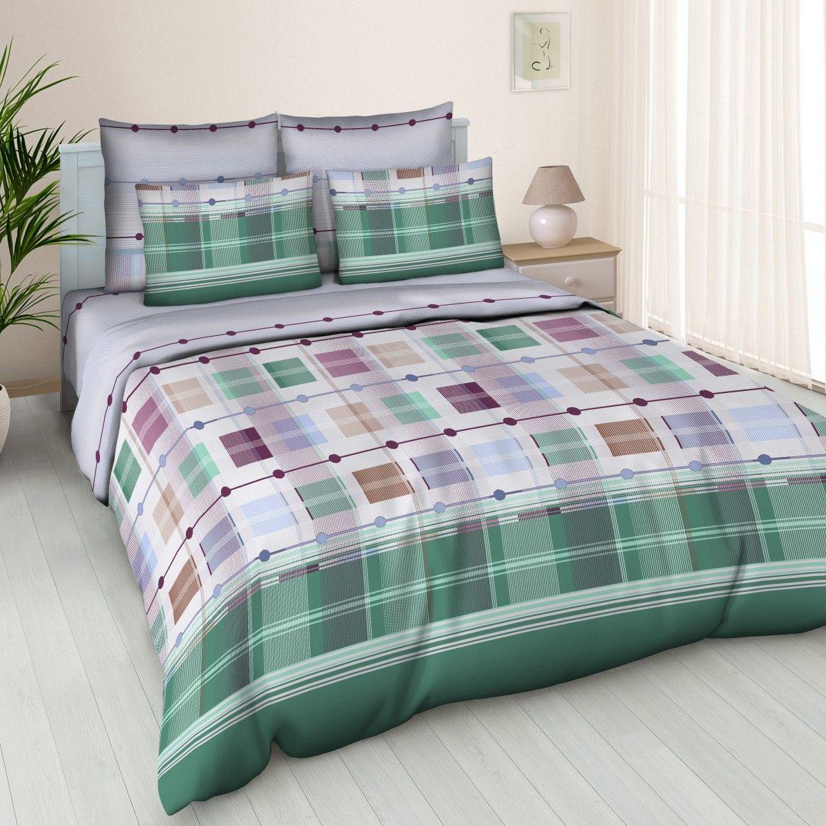Комплект белья Amore Mio West, 2-спальный, наволочки 70x70, цвет: зеленый, бордовый, молочный83335Постельное белье из бязи практично и долговечно, а самое главное - это 100% хлопок! Материал великолепно отводит влагу, отлично пропускает воздух, не капризен в уходе, легко стирается и гладится. Новая коллекция Naturel 3-D дизайнов позволит выбрать постельное белье на любой вкус!