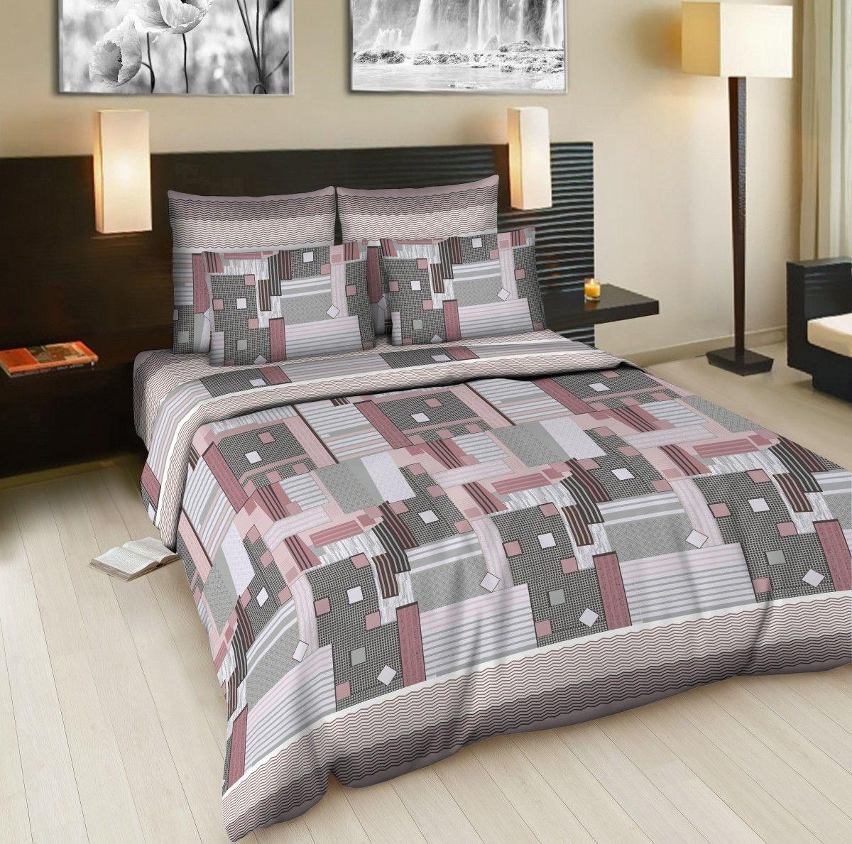 Комплект белья Amore Mio Window, евро, наволочки 70x70, цвет: серый, розовый83343Постельное белье из бязи практично и долговечно, а самое главное - это 100% хлопок! Материал великолепно отводит влагу, отлично пропускает воздух, не капризен в уходе, легко стирается и гладится. Новая коллекция Naturel 3-D дизайнов позволит выбрать постельное белье на любой вкус!