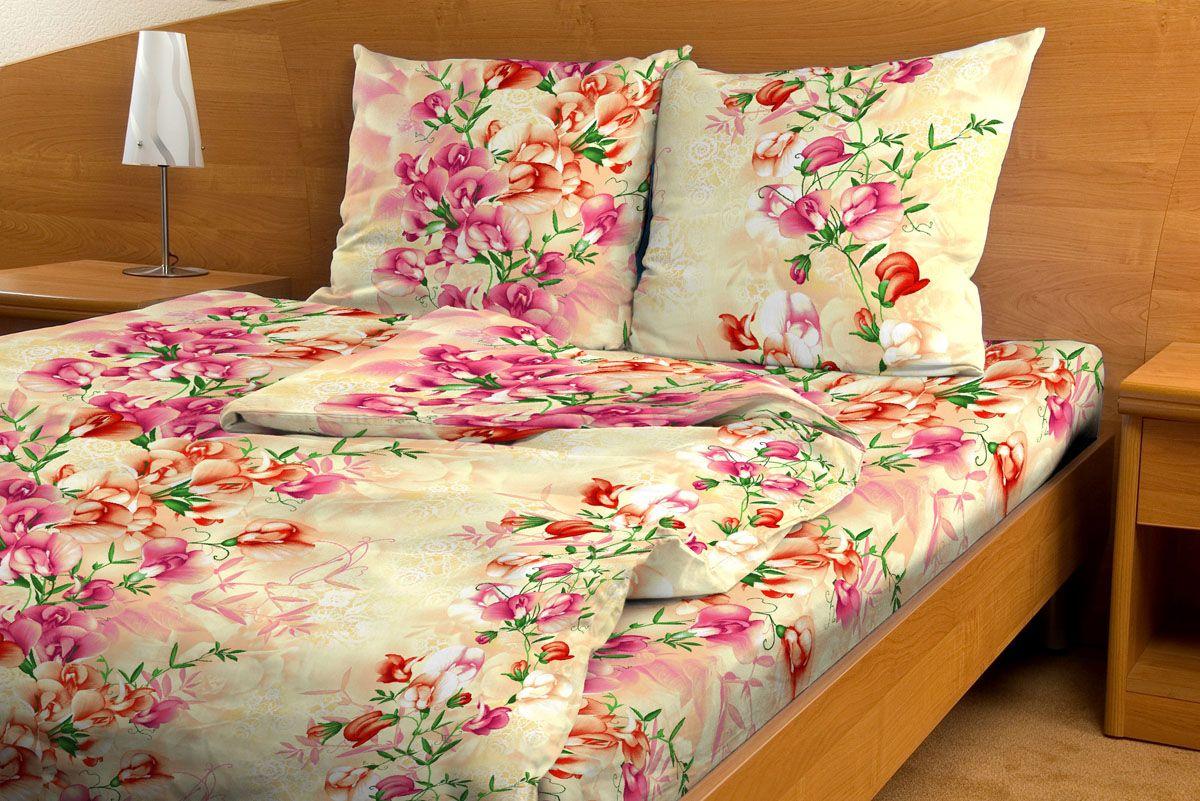 Комплект белья Amore Mio Orhid, 1,5-спальный, наволочки 70x70, цвет: бежевый, розовый, зеленый83931Постельное белье из бязи практично и долговечно, а самое главное - это 100% хлопок! Материал великолепно отводит влагу, отлично пропускает воздух, не капризен в уходе, легко стирается и гладится. Новая коллекция Naturel 3-D дизайнов позволит выбрать постельное белье на любой вкус!