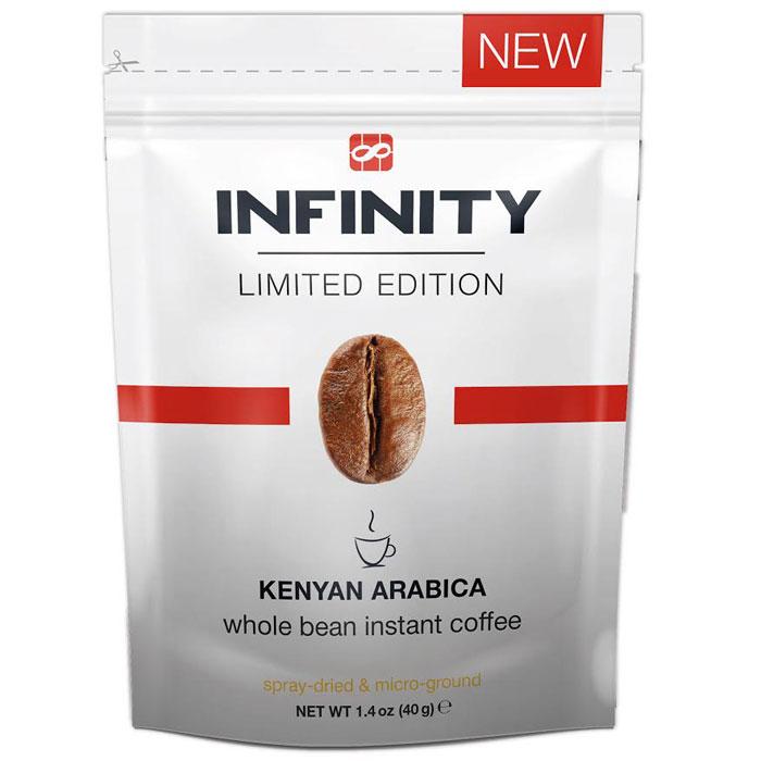 Infinity Limited Edition кофе растворимый, 40 г4260283250806Кофе идеально подойдет для того, чтобы приятно удивить ваших друзей. Сбалансированный букет ароматов заставит усомниться в том, что этот кофе растворимый: уникальная технология In-Fi позволила в неприкосновенности донести все нюансы и оттенки вкуса натуральной молотой Кенийской Арабики.