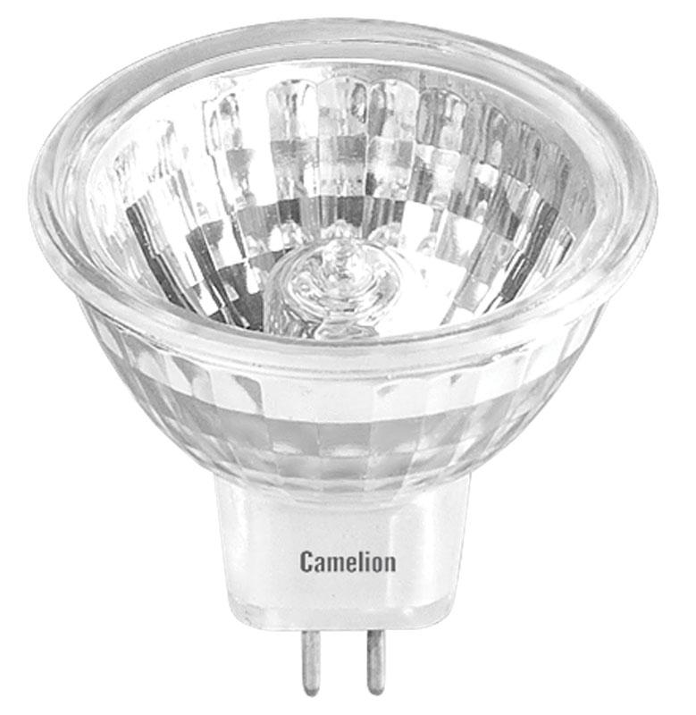 Лампа галогенная Camelion, с защитным стеклом, теплый свет, цоколь GU5.3, 75W1954