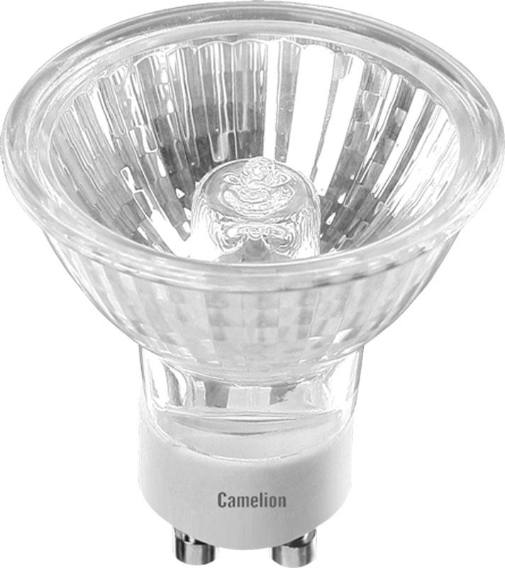 Лампа галогенная Camelion, с защитным стеклом, теплый свет, цоколь GU10, 50W5560