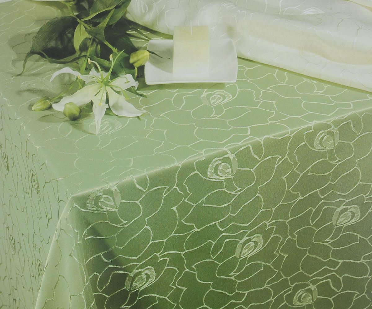 Скатерть Schaefer, круглая, цвет: светло-зеленый, диаметр 170 см. 4162/Fb.354162/Fb.35 Скатерть, диаметр 170 смКруглая скатерть Schaefer, выполненная из полиэстера с оригинальным принтом, станет изысканным украшением стола. За текстилем из полиэстера очень легко ухаживать: он легко стирается, не мнется, не садится и быстро сохнет, более долговечен, чем текстиль из натуральных волокон. Изделие прекрасно послужит для ежедневного использования на кухне или в столовой, а также подойдет для торжественных случаев и семейных праздников. Стильный дизайн и качество исполнения сделают такую скатерть отличным приобретением для дома. Это текстильное изделие станет элегантным украшением интерьера!