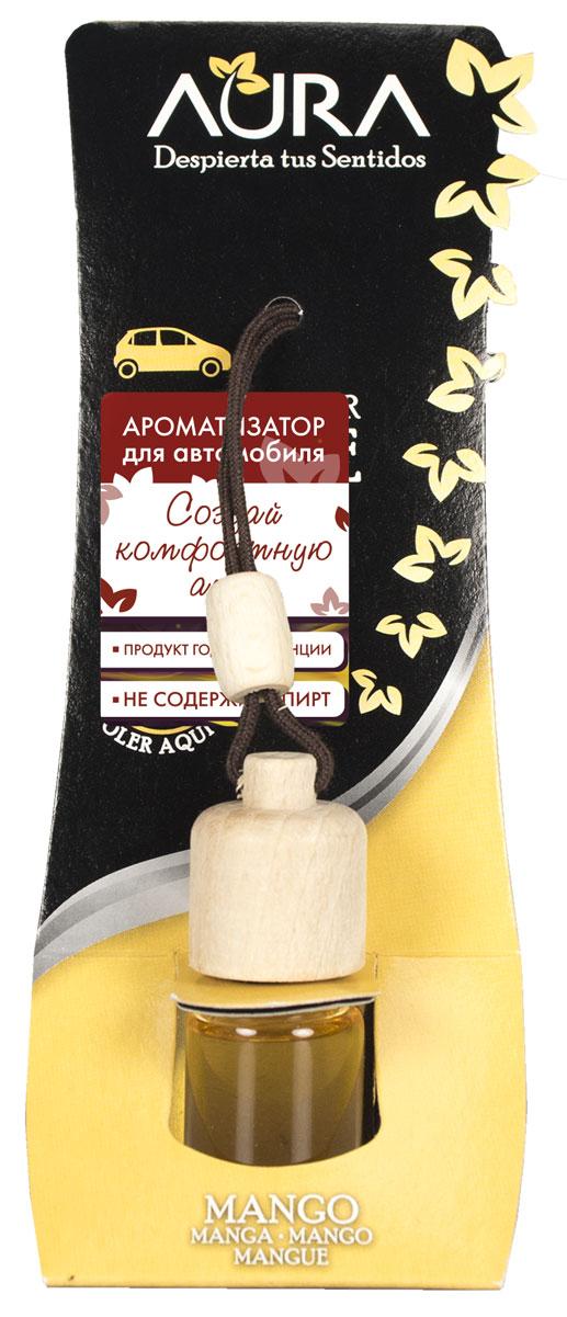Ароматизатор автомобильный Aura Auto, подвесной, индийское манго313070Автомобильный ароматизатор Aura наполнит салон сочным ароматом индийского манго. Он не только устраняет все виды неприятного запаха (сигаретный дым, выхлопные газы, топливо), но и надолго сохраняет в воздухе ощущение свежести. Простой, но изящный дизайн флакона подойдет для любого салона и прослужит в течение долгого времени. Способ применения: 1. Открутите деревянную крышку и извлеките колпачок. 2. Закрутите деревянную крышку, повесьте на зеркало заднего вида, затянув во избежание контакта с лобовым стеклом во время движения. 3. Переверните ёмкость и держите в таком положении не дольше 5 сек. Способ хранения: хранить в недоступном для детей месте. Меры предосторожности: не употреблять внутрь. Избегать попадания в глаза и прямого контакта с кожей (может вызвать аллергическую реакцию). При попадании на кожу тщательно промыть ее проточной водой с мылом. При попадании в глаза промыть их в течение нескольких минут. Токсичный для водных организмов с...