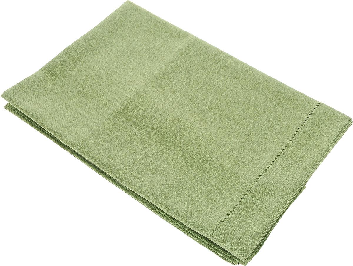 Скатерть Schaefer, прямоугольная, цвет: зеленый, 130 x 220 см07602-449Скатерть Schaefer прямоугольной формы, выполненная из плотного полиэстера, станет изысканным украшением кухонного стола. Вдоль края изделие оформлено декоративной перфорацией. За текстилем из полиэстера очень легко ухаживать: он не мнется, не садится и быстро сохнет, легко стирается, более долговечен, чем текстиль из натуральных волокон. Использование такой скатерти сделает застолье торжественным, поднимет настроение гостей и приятно удивит их вашим изысканным вкусом. Также вы можете использовать эту скатерть для повседневной трапезы, превратив каждый прием пищи в волшебный праздник и веселье. Это текстильное изделие станет изысканным украшением вашего дома!
