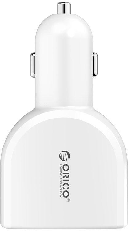 Устройство зарядное автомобильное Orico UCA-4U, 4 USB порта (2-5V2.4A, 2-5V1A), цвет: белыйUCA-4UOrico UCA-4U с 4 USB-портами, позволит одновременно подзаряжать сразу четыре устройства. Пока вы находитесь в машине, зарядное устройство, предоставит возможность проигрывать сколько угодно музыкальных треков и поддерживать заряд батарей гаджетов в режиме ожидания не только вам, но и вашим пассажирам. USB-порты являются универсальными, поэтому вы сможете заряжать любое совместимое устройство через USB кабель (приобретается отдельно): смартфон, сотовый телефон, электронную книгу, планшетный компьютер, плеер и многое другое. Система безопасности гарантирует полную защиту подключенных устройств от короткого замыкания и скачков напряжения, тем самым делая процесс подзарядки действительно качественным и безопасным. Корпус устройства изготовлен из жароустойчивого, антикоррозионного и нетоксичного материала, в то время как контакты выполнены из медно-никелевого сплава, характеризующегося сильной проводимостью и устойчивостью к износу.