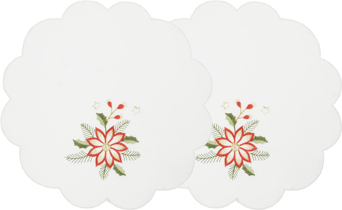 Набор салфеток Schaefer, цвет: молочный, диаметр 30 см, 2 шт07434-315-V2-CНабор Schaefer, состоящий из двух салфеток, выполнен из полиэстера и оформлен вышивкой. Дизайнерские идеи немецких художников компании Schaefer воплощаются в текстильных изделиях, которые сделают ваш дом красивее и уютнее и не останутся незамеченными вашими гостями. Дарите себе и близким красоту каждый день! Диаметр салфетки: 30 см.