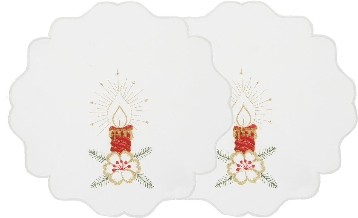 Набор салфеток Schaefer, диаметр 30 см, 2 шт. 07434-315-V2-E07434-315-V2-EНабор Schaefer, состоящий из двух салфеток, выполнен из полиэстера и оформлен вышивкой. Дизайнерские идеи немецких художников компании Schaefer воплощаются в текстильных изделиях, которые сделают ваш дом красивее и уютнее и не останутся незамеченными вашими гостями. Дарите себе и близким красоту каждый день! Диаметр салфетки: 30 см.
