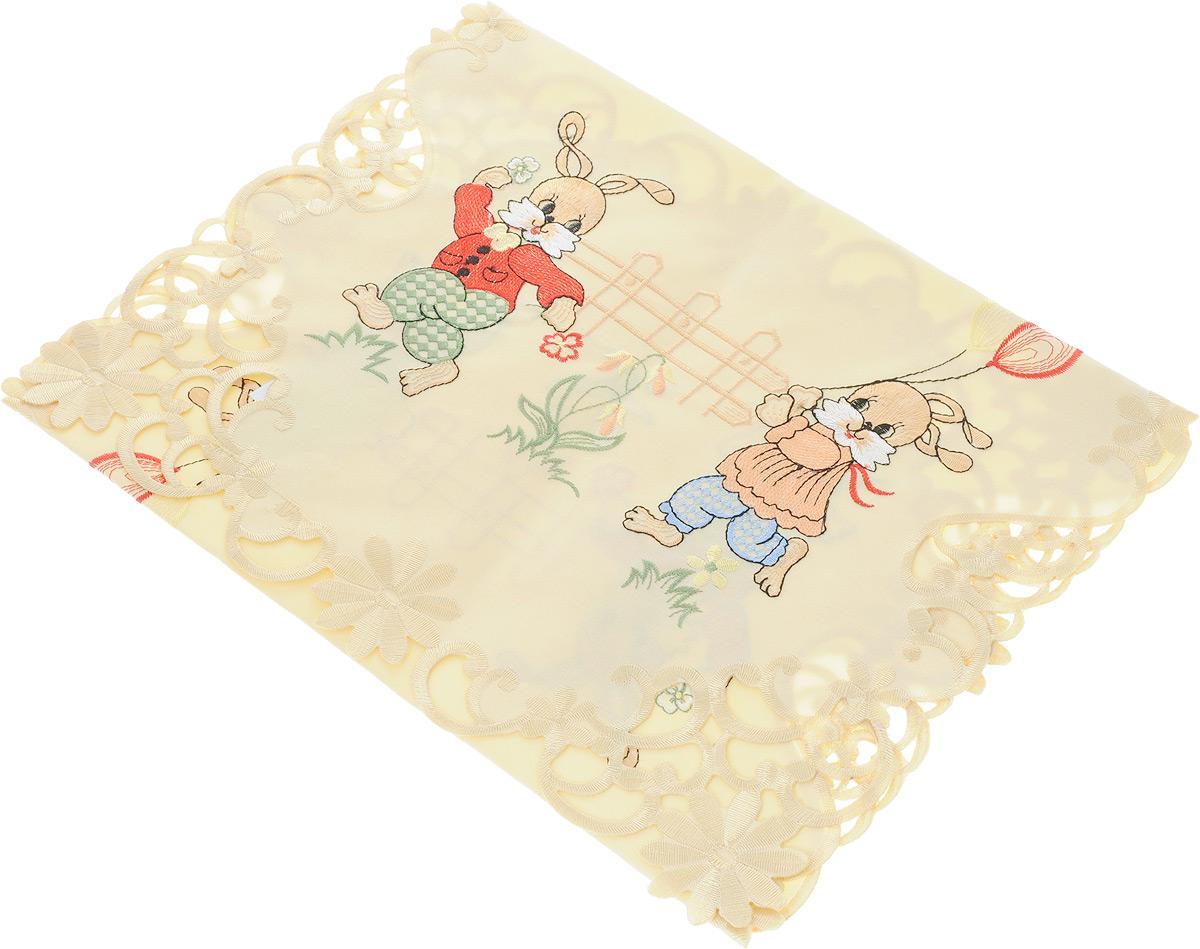 Дорожка для декорирования стола Schaefer, цвет: бежевый, 40 х 90 см06682-200Дорожка Schaefer, выполненная из полиэстера, станет украшением интерьера. Изделие оформлено вышивкой, по краям - вышивкой ришелье. Такую дорожку можно использовать для украшения комодов, тумб и столов. За текстилем из полиэстера очень легко ухаживать: он легко стирается, не мнется, не садится и быстро сохнет, более долговечен, чем текстиль из натуральных волокон. Такая дорожка изящно дополнит интерьер вашего дома.