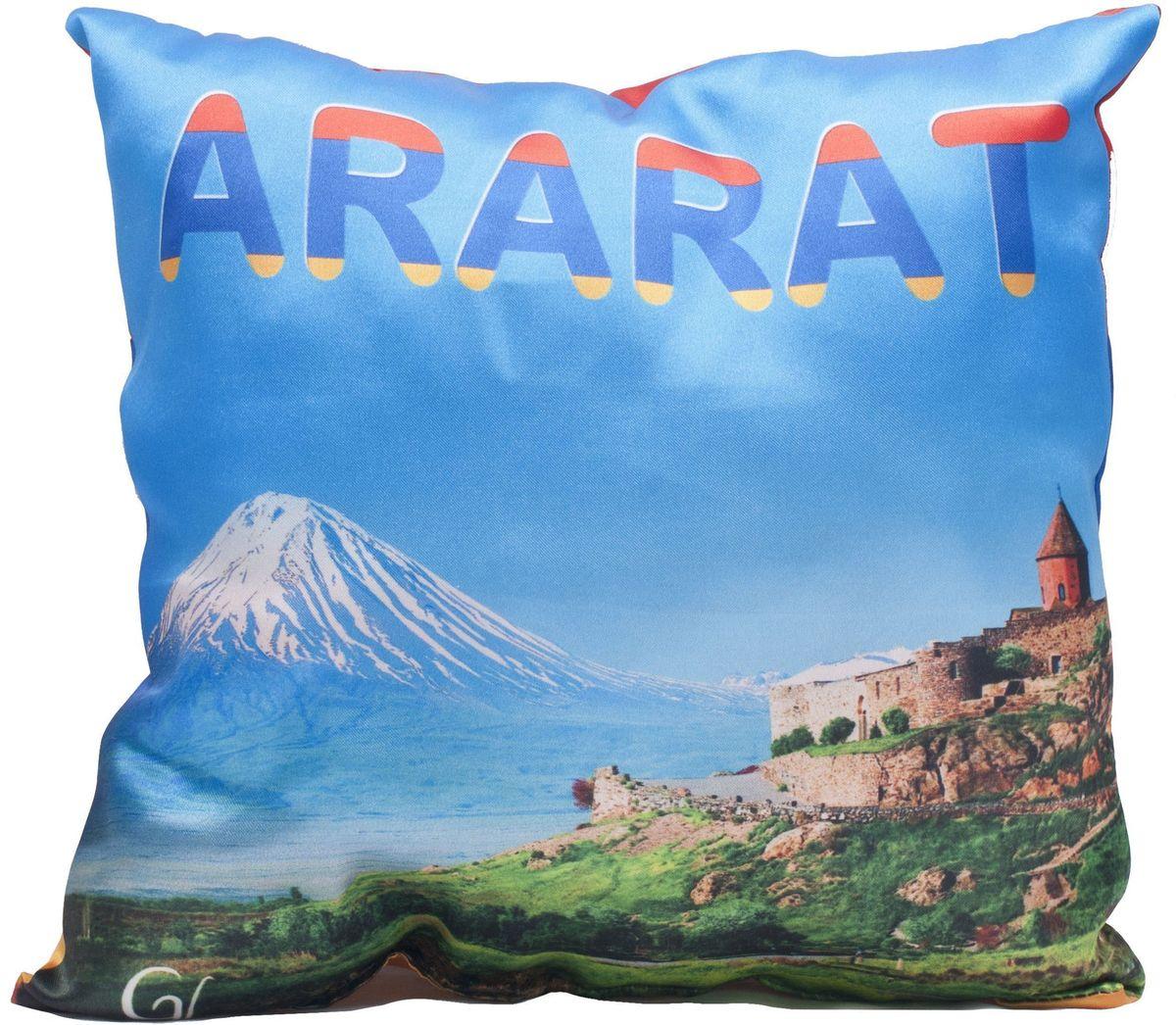 Подушка декоративная Главдор GL-520. Армения-Арарат, с рисунком, 30х30 смGL-520Декоративные подушки c апликацией в салон автомобиля.