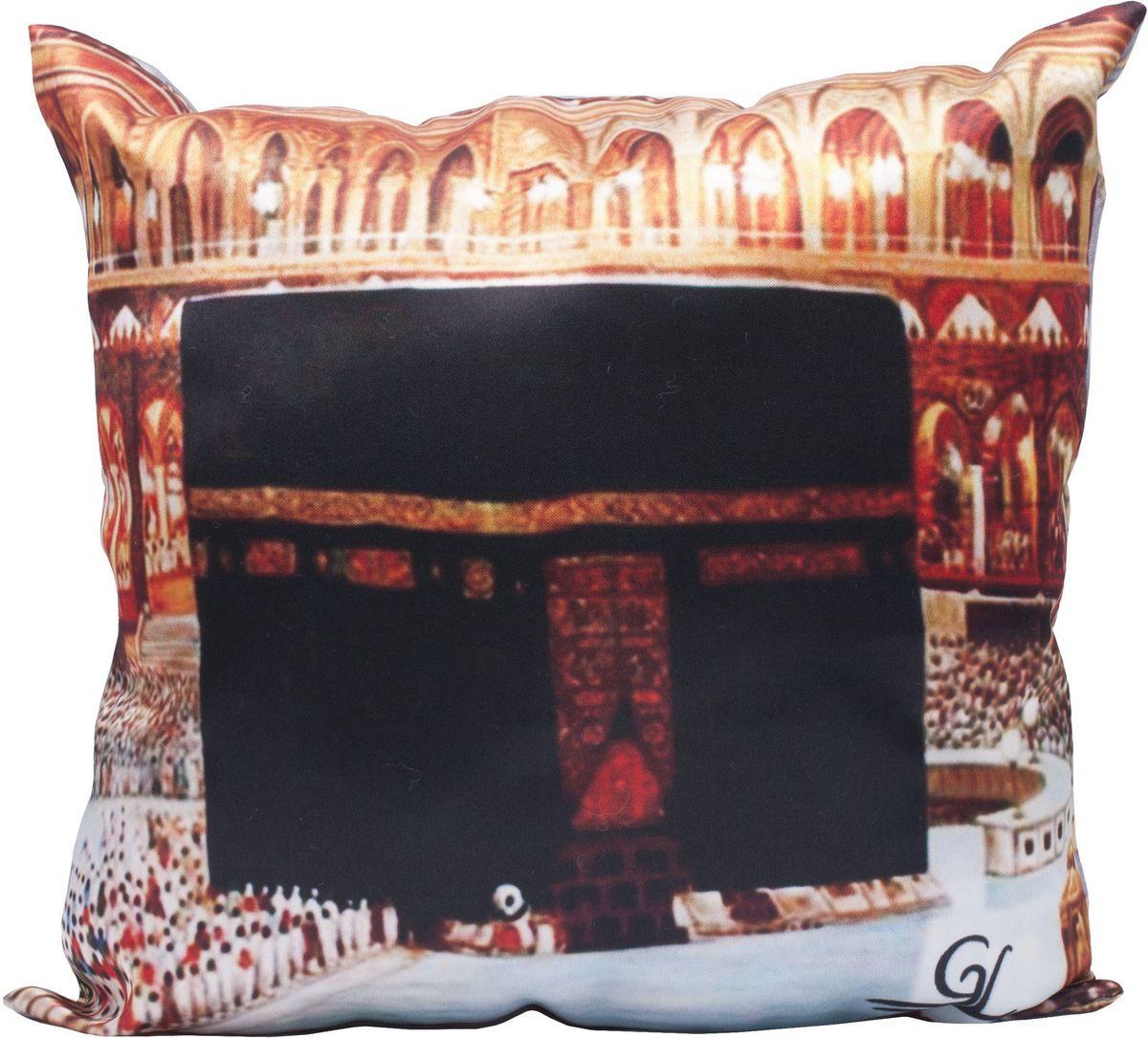 Подушка декоративная Главдор GL-526. Кааба - Мусульманский амулет, с рисунком, 30х30 смGL-526Декоративные подушки c апликацией в салон автомобиля.