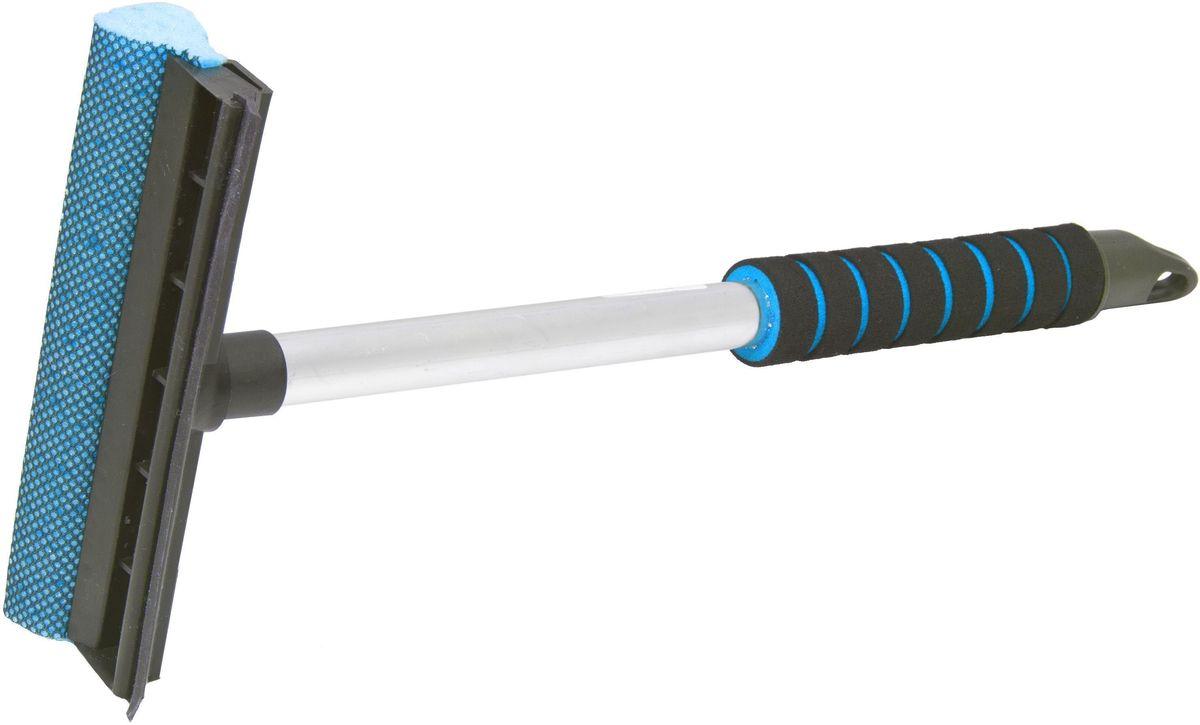 Водосгон Главдор GL-566, на алюминиевой ручке, длина: 43 см, цвет: голубойGL-566Водосгон на алюминиевой ручке сдержателем из пенополиэтилена. Снабжен резиновым лезвием и поролоновой губкой для эффективной очистки загрязненных поверхностей.