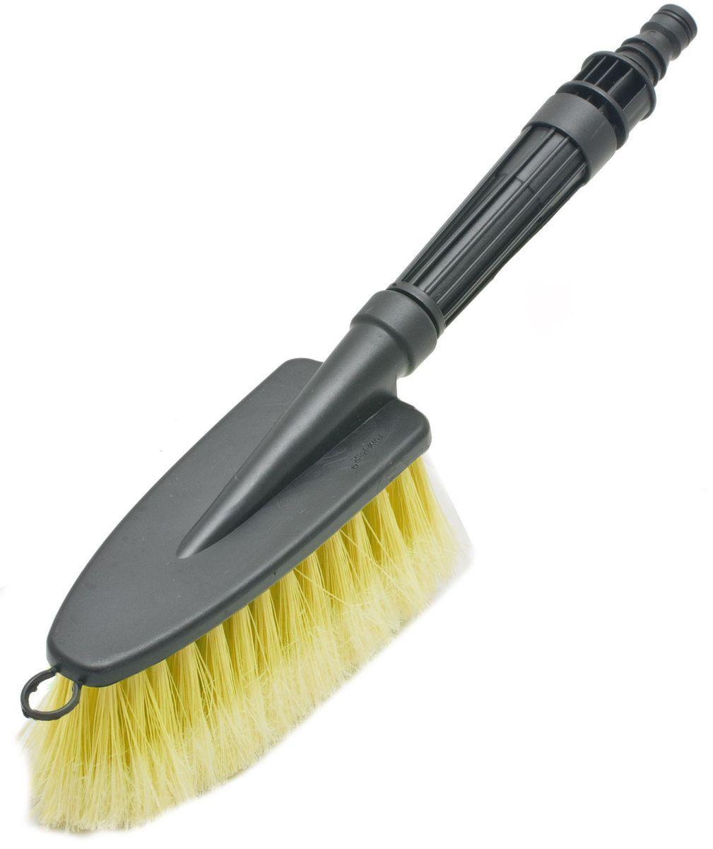 Щетка для мытья под шланг Главдор GL-582, с двойным клапаном, цвет: желтыйGL-582Щетка для мытья с мягкой, распушенной щетиной, изготовлена из прочного пластика. Снабжена адаптером (насадкой) дляподключения к шлангу идвойным клапаном.