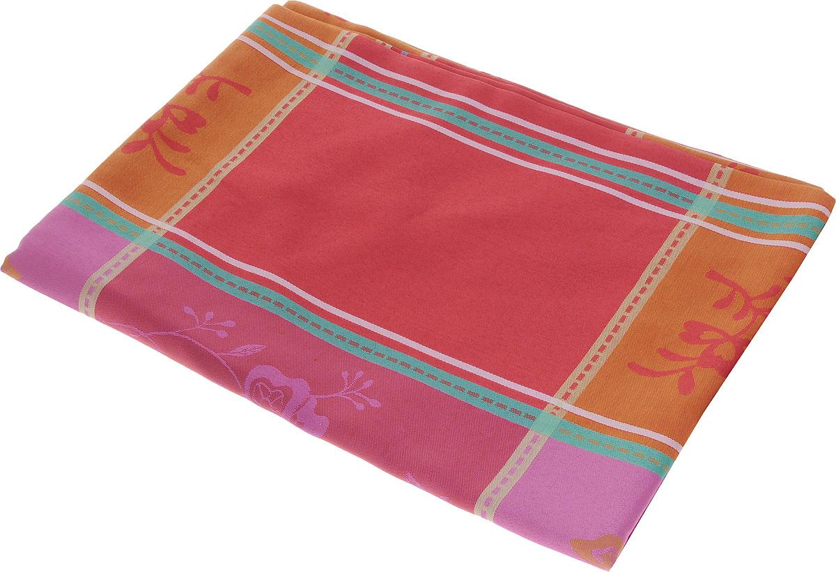 СкатертьSchaefer, круглая, цвет: красный, оранжевый, розовый, диаметр 170 см05761-414Круглая скатерть Schaefer, выполненная из плотного полиэстера, станет украшением кухонного стола. Изделие оформлено оригинальным принтом. За текстилем из полиэстера очень легко ухаживать: он не мнется, не садится и быстро сохнет, легко стирается, более долговечен, чем текстиль из натуральных волокон. Использование такой скатерти сделает застолье торжественным, поднимет настроение гостей и приятно удивит их вашим изысканным вкусом. Также вы можете использовать эту скатерть для повседневной трапезы, превратив каждый прием пищи в волшебный праздник и веселье. Это текстильное изделие станет изысканным украшением вашего дома! Диаметр скатерти: 170 см.