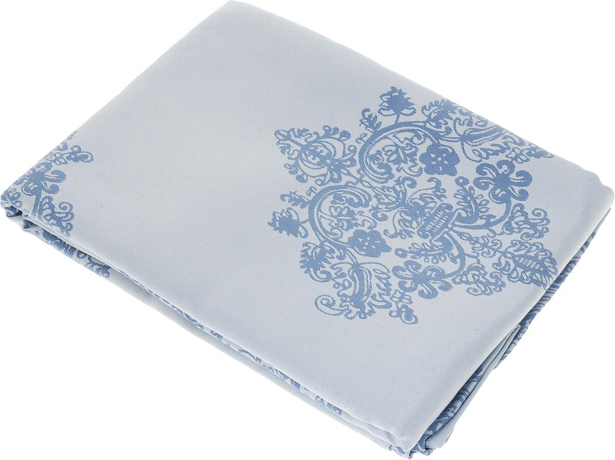 Скатерть Schaefer, прямоугольная, цвет: серебристо-голубой, синий, 160 х 220 см. 07811-40807811-408Прямоугольная скатерть Schaefer, выполненная из полиэстера с оригинальным рисунком, станет изысканным украшением кухонного стола. За текстилем из полиэстера очень легко ухаживать: он не мнется, не садится и быстро сохнет, легко стирается, более долговечен, чем текстиль из натуральных волокон. Использование такой скатерти сделает застолье торжественным, поднимет настроение гостей и приятно удивит их вашим изысканным вкусом. Также вы можете использовать эту скатерть для повседневной трапезы, превратив каждый прием пищи в волшебный праздник и веселье. Это текстильное изделие станет изысканным украшением вашего дома!