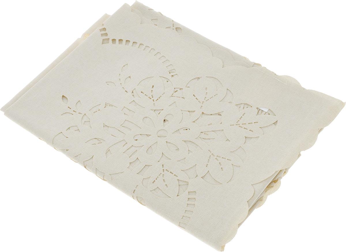 Скатерть Schaefer, квадратная, цвет: бежевый, 85 х 85 см. 07800-10007800-100Квадратная скатерть Schaefer, выполненная из полиэстера, станет украшением кухонного стола. Изделие оформлено перфорированным узором. За текстилем из полиэстера очень легко ухаживать: он не мнется, не садится и быстро сохнет, легко стирается, более долговечен, чем текстиль из натуральных волокон. Использование такой скатерти сделает застолье торжественным, поднимет настроение гостей и приятно удивит их вашим изысканным вкусом. Также вы можете использовать эту скатерть для повседневной трапезы, превратив каждый прием пищи в волшебный праздник и веселье. Это текстильное изделие станет изысканным украшением вашего дома!