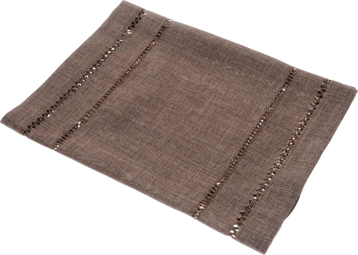Дорожка для декорирования стола Schaefer, цвет: темно-коричневый, 40 х 90 см06734-200Дорожка Schaefer, выполненная из полиэстера, станет украшением интерьера. Изделие оформлено декоративной перфорацией. Такую дорожку можно использовать для украшения комодов, тумб и столов. За текстилем из полиэстера очень легко ухаживать: он легко стирается, не мнется, не садится и быстро сохнет, более долговечен, чем текстиль из натуральных волокон. Такая дорожка изящно дополнит интерьер вашего дома.