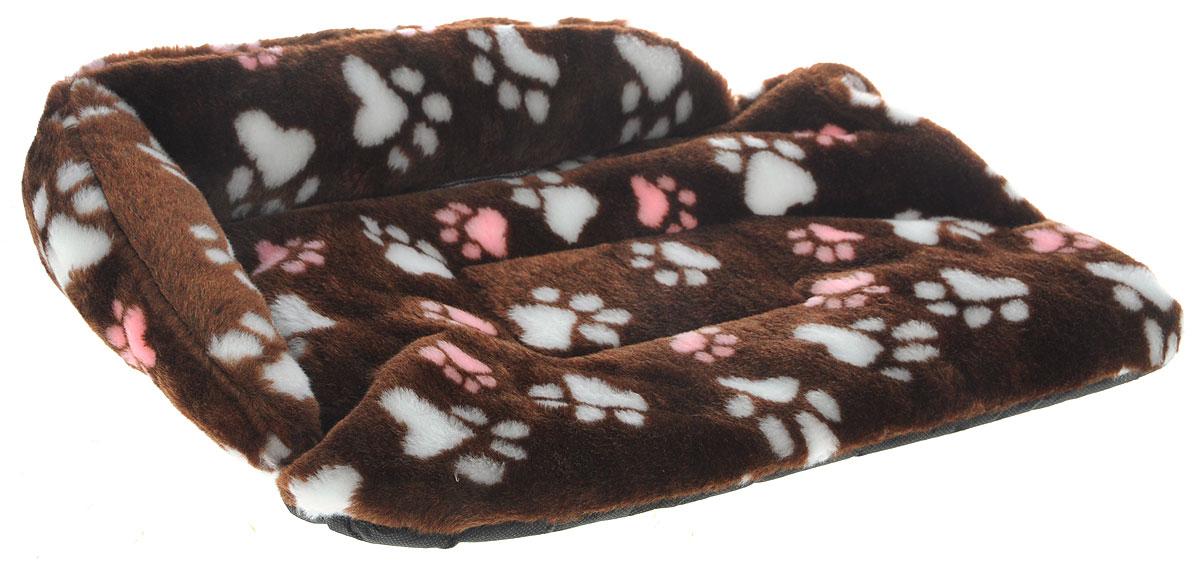 Лежак для животных Elite Valley Софа, цвет: коричневый, белый, розовый, 50 х 38 х 12 см. Л-6/2Л-6/2_коричневый, лапки белые и розовыеЛежак для животных Elite Valley Софа изготовлен из искусственного меха и нетканого материала, наполнитель - холлофайбер. Он станет излюбленным местом вашего питомца, подарит ему спокойный и комфортный сон, а также убережет вашу мебель от многочисленной шерсти. На таком лежаке вашему любимцу будет мягко и тепло.