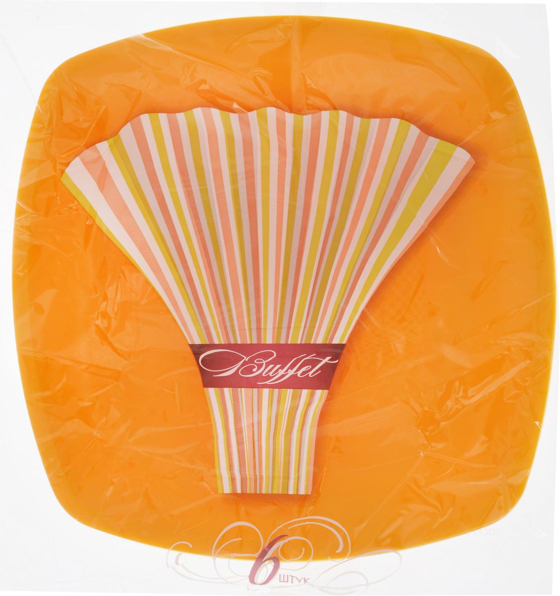Набор одноразовых тарелок Buffet, цвет: желтый, 23 х 23 см, 6 шт183203_желтыйНабор Buffet состоит из 6 квадратных тарелок, выполненных из полипропилена и предназначенных для одноразового использования. Одноразовые тарелки будут незаменимы при поездках на природу, пикниках и других мероприятиях. Они не займут много места, легки и самое главное - после использования их не надо мыть. Размер тарелки (по верхнему краю): 23 х 23 см. Высота тарелки: 1,5 см.