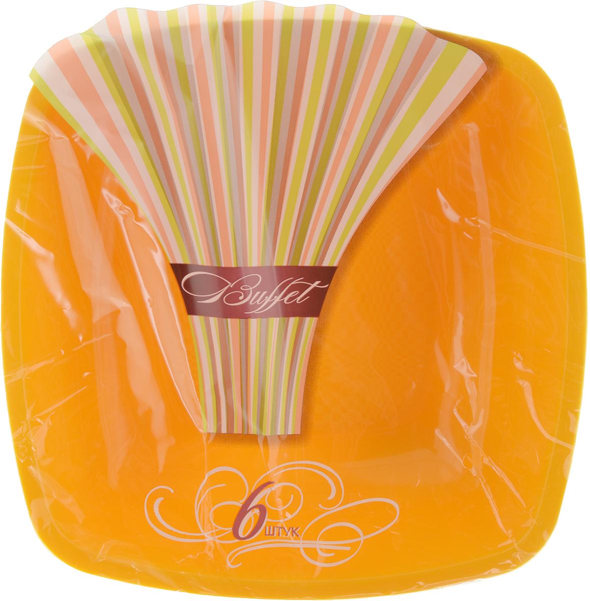 Набор одноразовых глубоких тарелок Buffet, цвет: желтый, 18 х 18 см, 6 шт183893/_желтыйНабор Buffet состоит из 6 глубоких тарелок, выполненных из полипропилена и предназначенных для одноразового использования. Такие тарелки подходят для пищевых продуктов и будут незаменимы при поездках на природу, пикниках и других мероприятиях. Они не займут много места, легки и самое главное - после использования их не надо мыть. Размер тарелки: 18 х 18 см. Высота тарелки: 4 см.