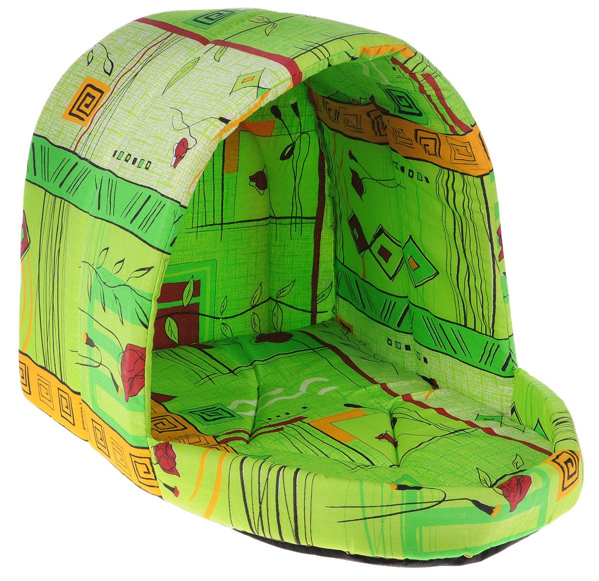 Лежак для животных Elite Valley Люлька, цвет: зеленый, оранжевый, 50 х 38 х 38 см. Л-11/4Л-11/4_зеленый, оранжевыйЛежак Elite Valley Люлька непременно станет любимым местом отдыха вашего домашнего животного. Изделие выполнено из бязи и нетканого материала, а наполнитель - из поролона. Такой материал не теряет своей формы долгое время. Внутри имеется мягкая съемная подстилка. На таком лежаке вашему любимцу будет мягко и тепло. Он подарит вашему питомцу ощущение уюта и уединенности, а также возможность спрятаться.