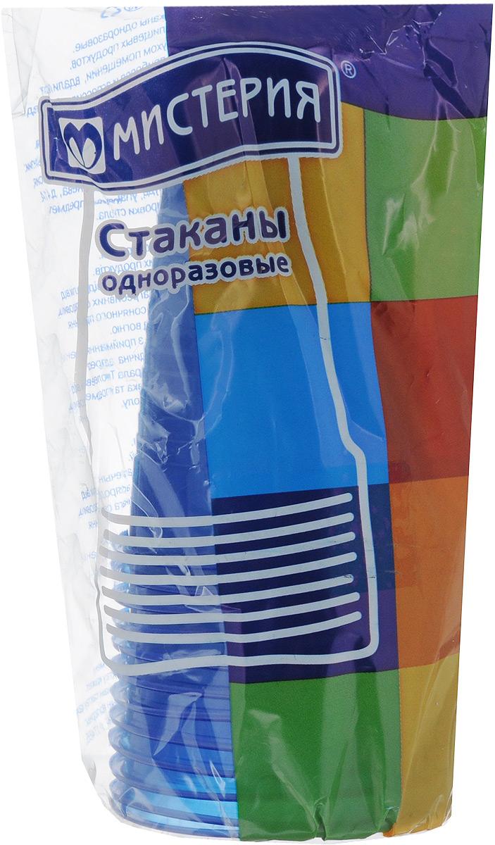 """Набор одноразовых стаканов """"Мистерия"""", цвет: синий, 200 мл, 12 шт. 181511"""